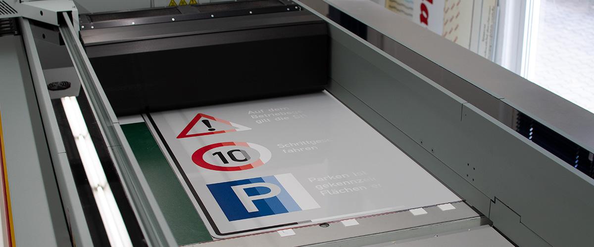 Digitaldruck auf Farbaluminium